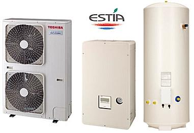 Термопомпа TOSHIBA  ESTIA POWERFULL HWS-P804HR-E