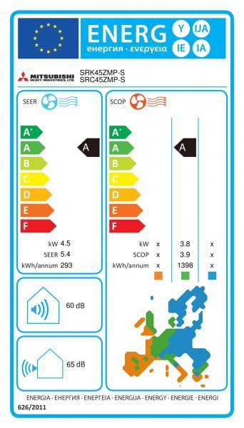Климатик MITSUBISHI HEAVY  SRK45ZMP-S / SRC45ZMP-S Standard