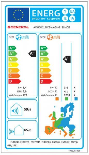 Климатик FUJITSU GENERAL  ASHG12LMCB / AOHG12LMCBN NORDIC -30°C